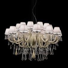 Люстра De Majo Goutte 0GOUT0S12 BC капучино - прозрачное стекло, белый+хром