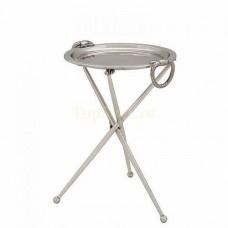 Приставной столик Eichholtz Keller Spare part 107136 серебро+хром