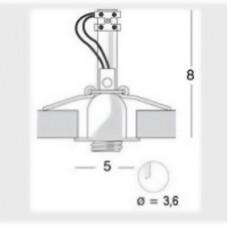 Встраиваемый потолочный светильник Esedra Clap 100860 хром