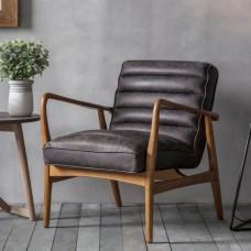 Кресло Античное Gallery Direct Datsun (5055999229227) черный+коричневый