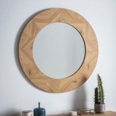 Круглое зеркало Gallery Direct Milano (5055999243100) светлый дуб