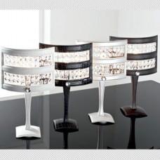 Настольная лампа Lumen Arte Olimpia (6700/LG) коричневая кожа+хром+хрусталь