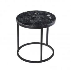 Журнальный круглый столик RGE Accent Black Crystall Синий+Черный